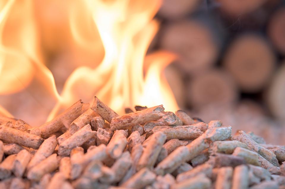 Pellet combustion