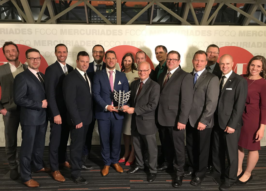 "Mine Raglan receives Québec Mercuriades' award for ""Sustainable Development Strategy (large enterprise)"" at prestigious annual gala event"